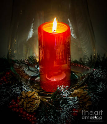Photograph - Christmas Candle 1 by Grace Grogan