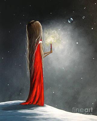 Hope Painting - Christmas Candle By Shawna Erback by Shawna Erback