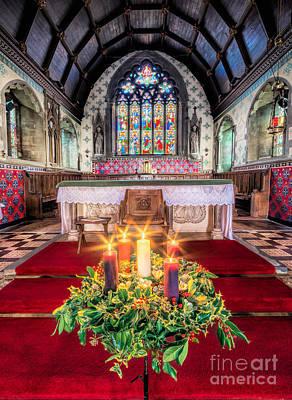 Photograph - Christmas Candles by Adrian Evans