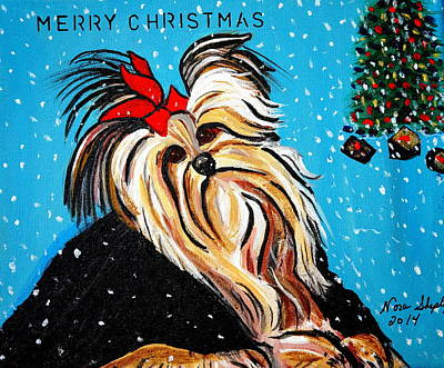 Art Print featuring the painting Christmas Card by Nora Shepley