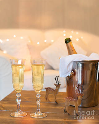 Gold Fill Photograph - Christmas Champagne by Amanda Elwell