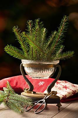 Pine Needles Photograph - Christmas Decoration by Amanda Elwell
