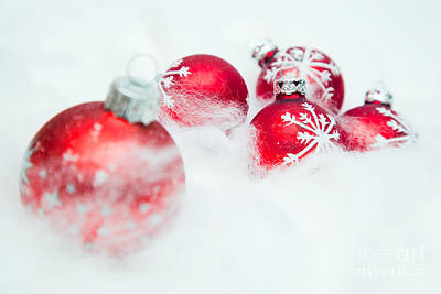 Glass Photograph - Christmas Decorations by Michal Bednarek