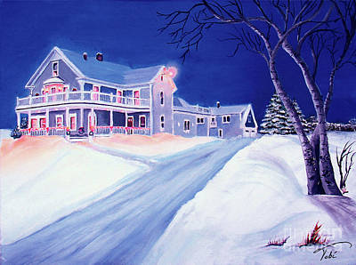 Maine Landscapes Painting - Christmas In Maine by Tobi Czumak