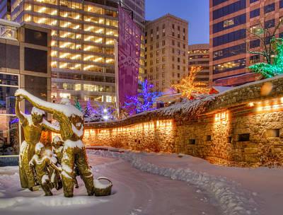 Photograph - Christmas In Salt Lake City Utah by Douglas Pulsipher