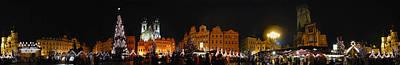 Czech Republic Digital Art - Christmas Market by Gary Lobdell