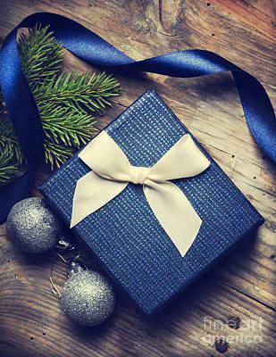 Postcard Pyrography - Christmas Present by Jelena Jovanovic