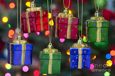 Photograph - Christmas Present Ornaments by Jim Corwin