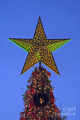 Stars Photograph - Christmas Star During Dusk Time by George Atsametakis
