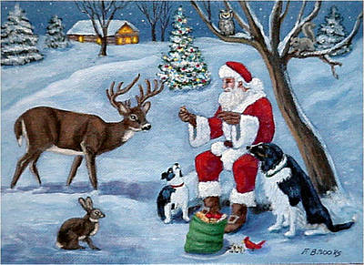 Art Print featuring the painting Christmas Treats by Fran Brooks