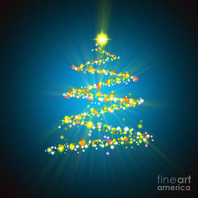 Christmas Tree Art Print by Atiketta Sangasaeng
