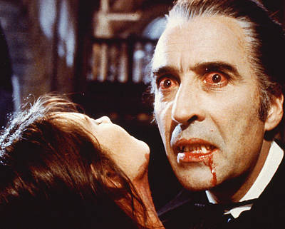 Dracula Photograph - Christopher Lee In Dracula A.d. 1972  by Silver Screen