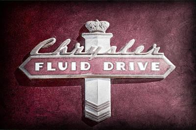Fluid Photograph - Chrysler Fluid Drive Emblem by Jill Reger