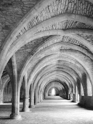Photograph - Church Archways In Black And White by Susan Leonard