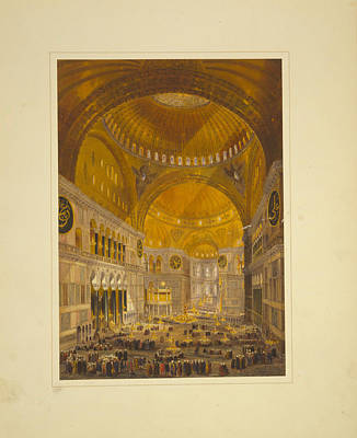 Synagogue Painting - Church Of Hagia Sophia by Celestial Images