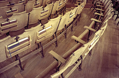 Song Book Photograph - Church Pews by Steven Michael