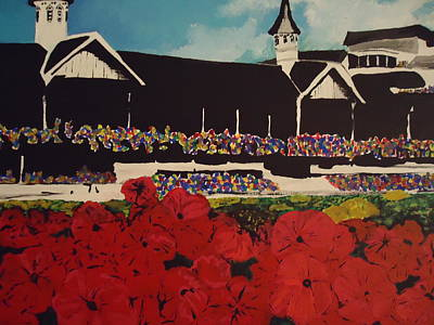 Kentucky Derby Painting - Churchill Downs by Nick Mantlo-Coots