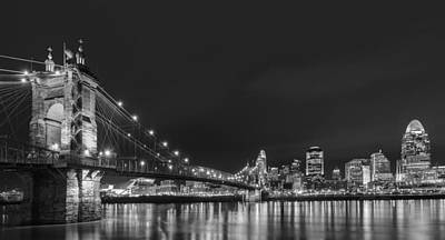 Photograph - Cincinnati Skyline At Night by Dick Wood