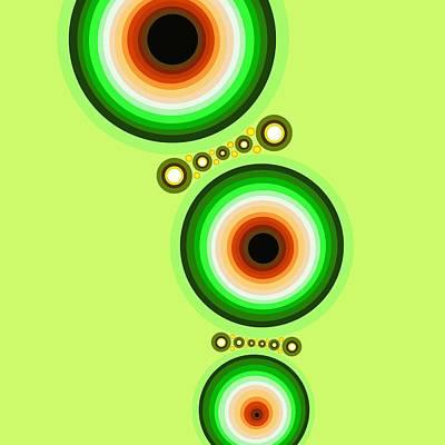 Tribal Art Painting - Circle Motif 124 by John F Metcalf