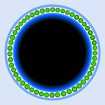 Green Geometric Art Digital Art - Circle Motif 140 by John F Metcalf