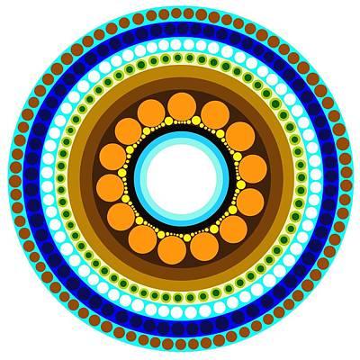 Circle Motif 214 Art Print by John F Metcalf