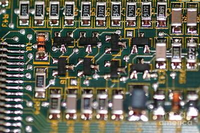 Circuit Board Art Print by Henrik Lehnerer