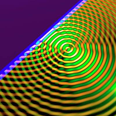 Oscillate Photograph - Circular Wave Reflection by Russell Kightley