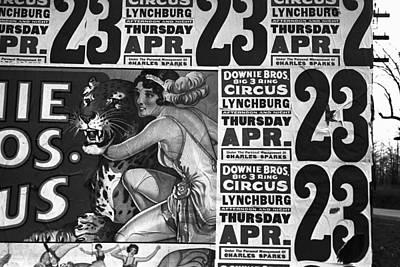 Photograph - Circus Advertisement, 1936 by Granger