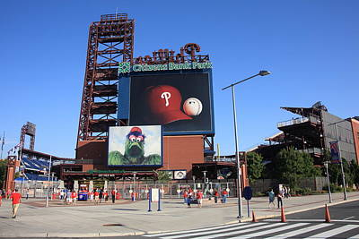 Citizens Bank Park - Philadelphia Phillies Art Print by Frank Romeo