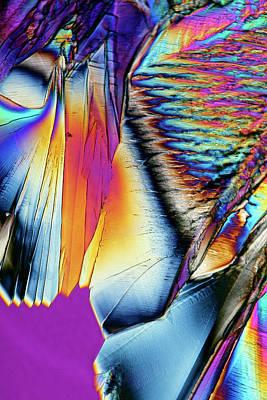 Citric Acid Crystals Art Print by Karl Gaff