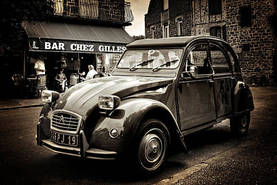 Photograph - Citroen 2cv / Meyssac by Barry O Carroll