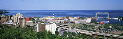 Duluth Photograph - City At The Waterfront, Lake Superior by Panoramic Images