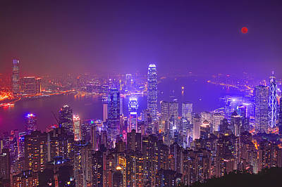 Hong Kong Wall Art - Photograph - City Of Lights by Midori Chan