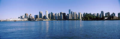 Built Structure Photograph - City Skyline, Vancouver, British by Panoramic Images