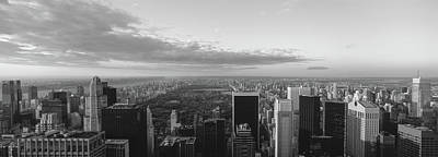 White River Scene Photograph - Cityscape At Sunset, Central Park, East by Panoramic Images