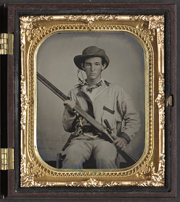 Civil War Soldier, C1863 Art Print