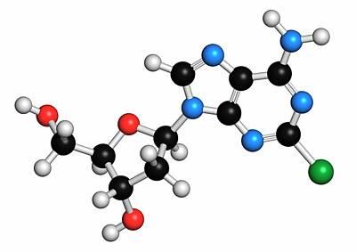 Multiple Sclerosis Photograph - Cladribine Cancer Drug Molecule by Molekuul