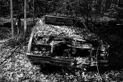 Classic Chevrolet Vehicle Abandoned In The Woods Art Print