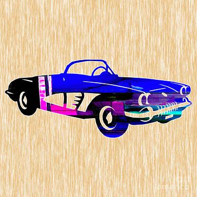 Classic Corvette Art Print by Marvin Blaine