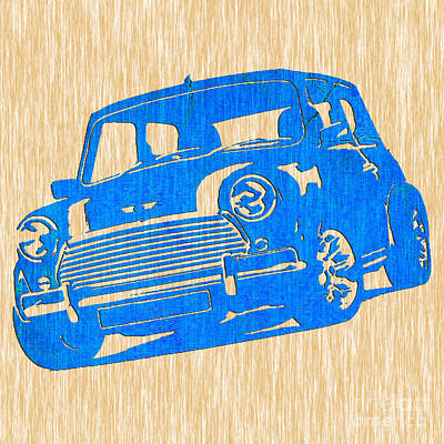 Car Mixed Media - Classic Mini Cooper by Marvin Blaine