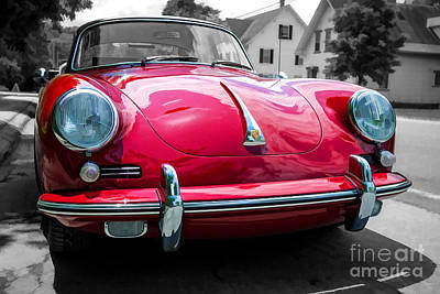 Headlight Photograph - Classic Red P Sports Car by Edward Fielding