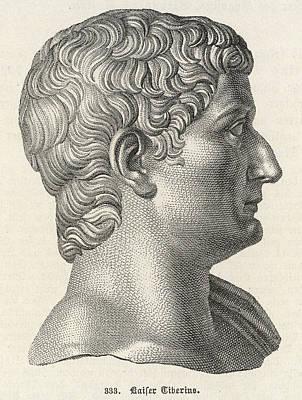 Caesar Augustus Drawing - Claudius Nero Caesar Augustus by Mary Evans Picture Library