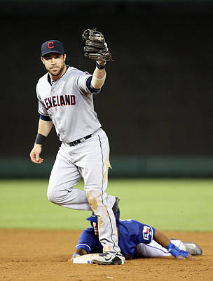Photograph - Cleveland Indians V Texas Rangers by Rick Yeatts