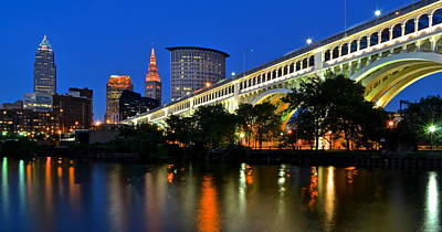 Beers On Tap - Cleveland Panorama by Frozen in Time Fine Art Photography