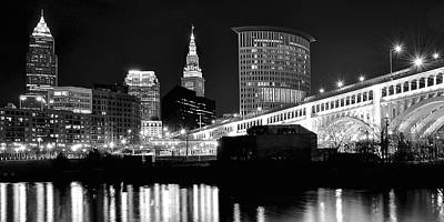 Cleveland Skyline Art Print by Frozen in Time Fine Art Photography