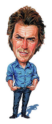 Comics Royalty-Free and Rights-Managed Images - Clint Eastwood by Art