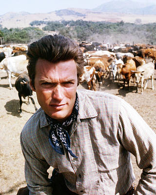 Rawhide Photograph - Clint Eastwood In Rawhide  by Silver Screen