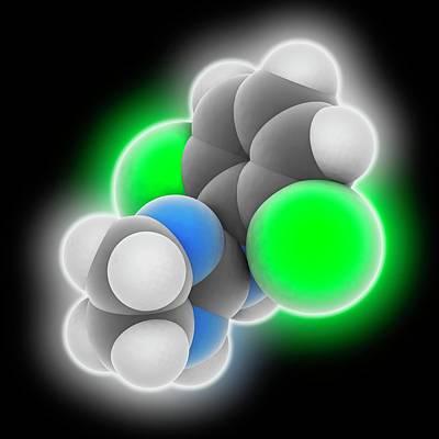 Clonidine Drug Molecule Art Print