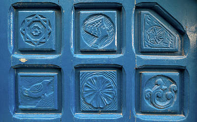 Star Of David Photograph - Close-up Of Tiles, Jaffa, Tel Aviv by Panoramic Images