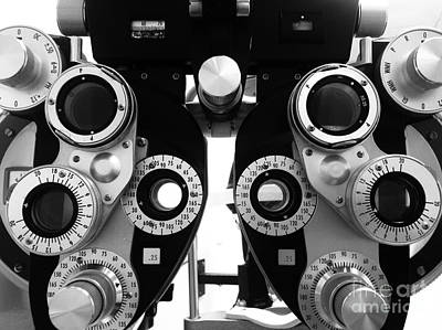 Closeup Of A Phoropter Eye Examination Equipment Art Print
